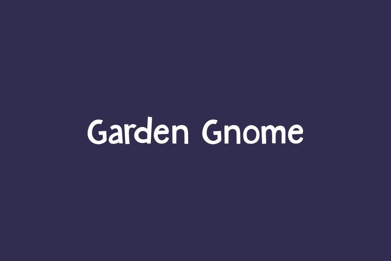 Garden Gnome Free Font