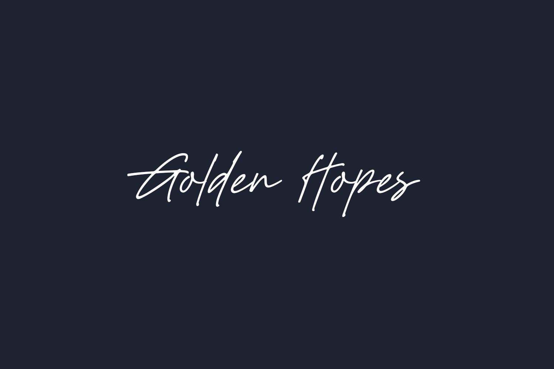 Golden Hopes Free Font