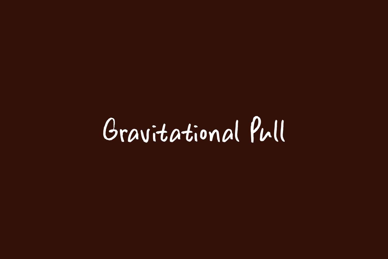 Gravitational Pull Free Font