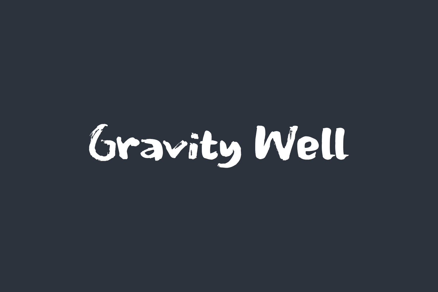 Gravity Well Free Font