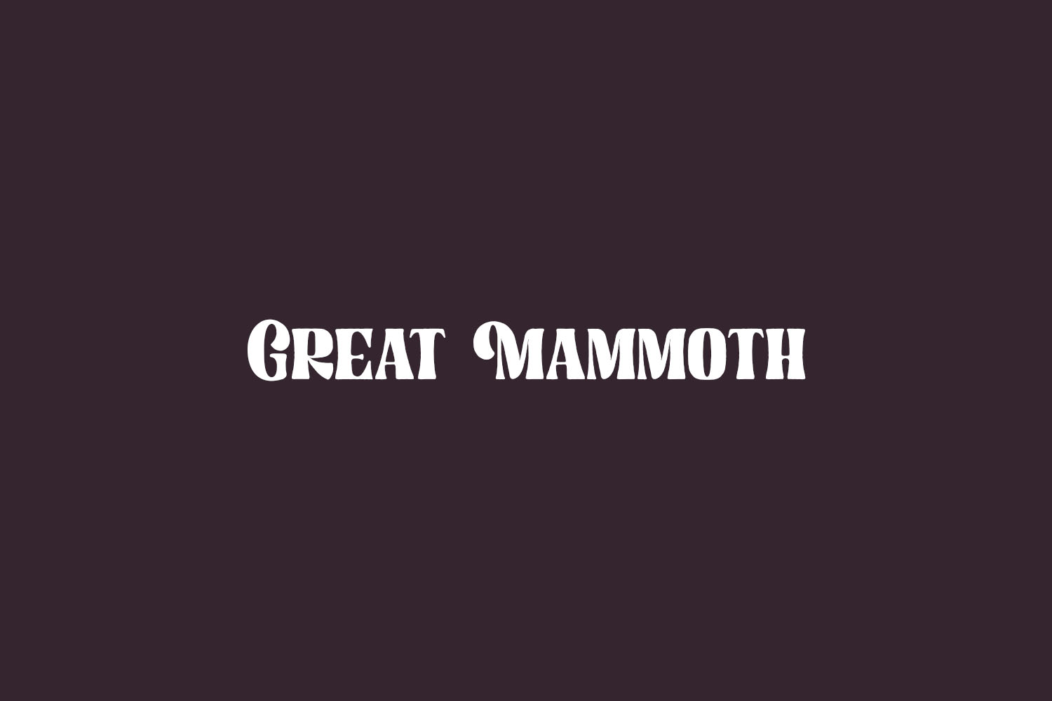 Great Mammoth Free Font