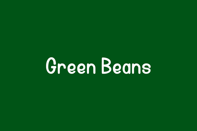 Green Beans Free Font