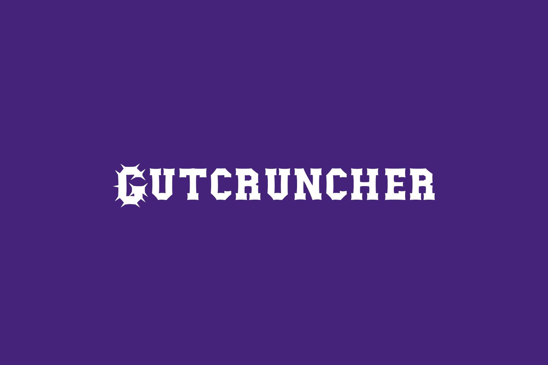 Gutcruncher Free Font