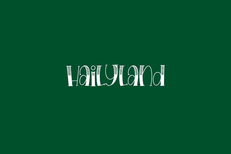 Hailyland Free Font
