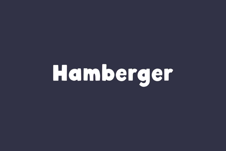 Hamberger Free Font