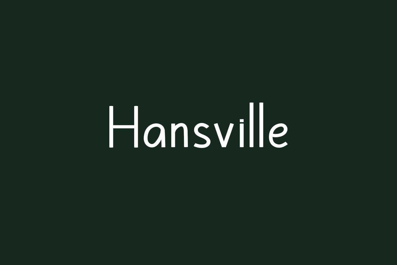 Hansville Free Font
