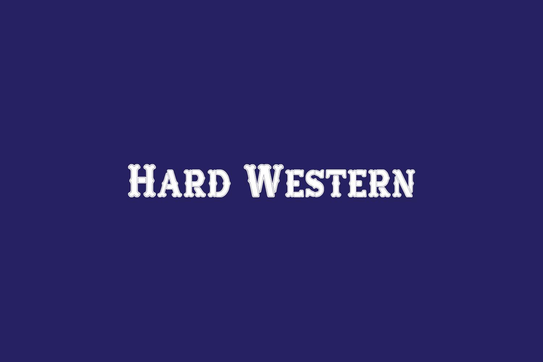 Hard Western Free Font