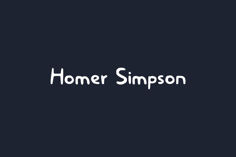 Homer Simpson Free Font