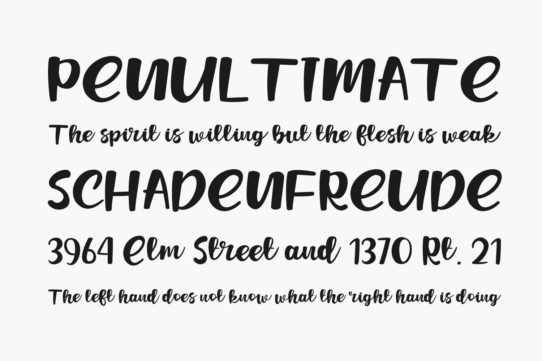Jafeline Hand Free Font