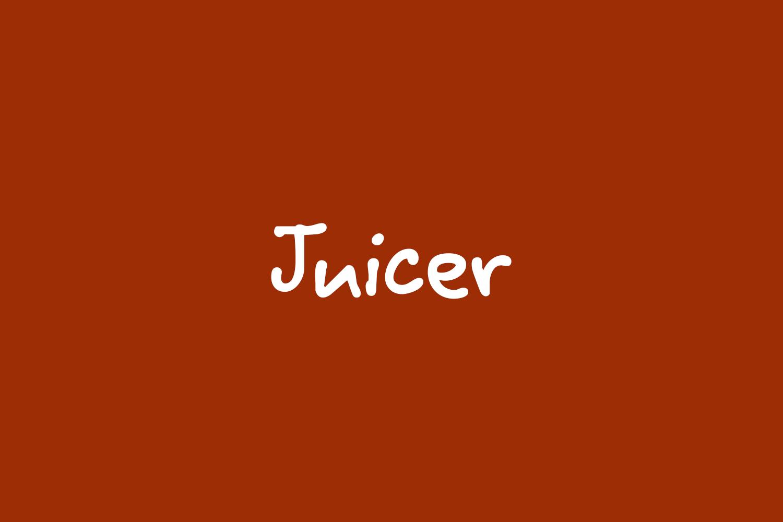 Juicer Free Font