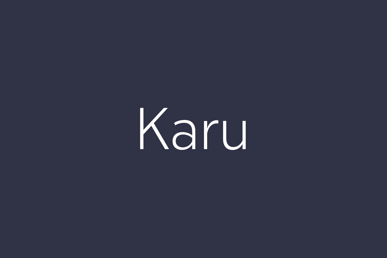 Karu Free Font
