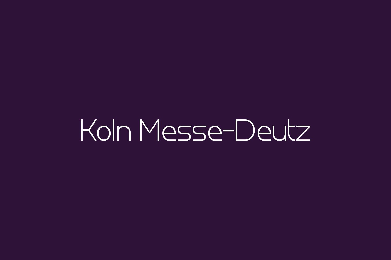 Koln Messe-Deutz Free Font