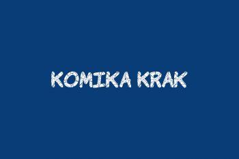 Komika Krak Free Font