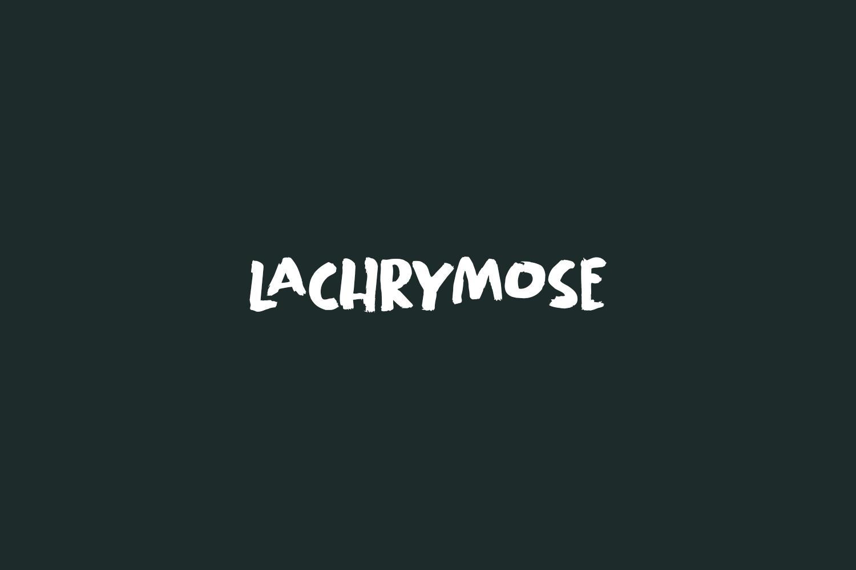 Lachrymose Free Font