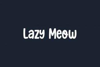 Lazy Meow Free Font