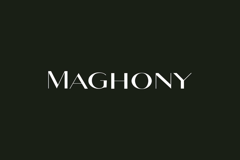 Maghony Free Font