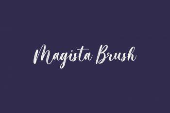 Magista Brush Free Font