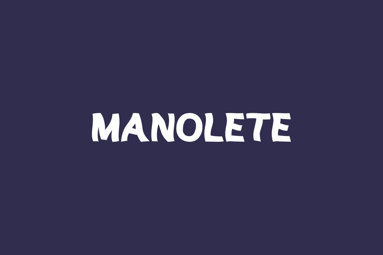 Manolete Free Font