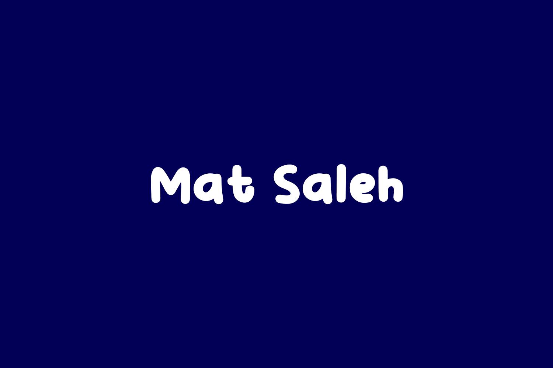 Mat Saleh Free Font