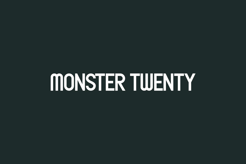 Monster Twenty Free Font