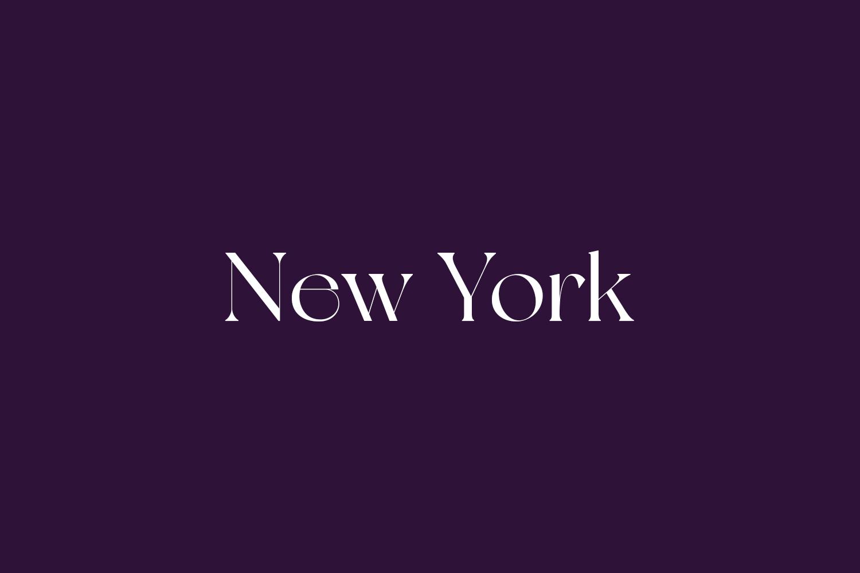 New York Free Font