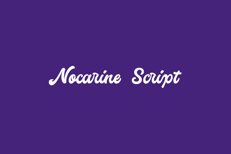 Nocarine Script Free Font