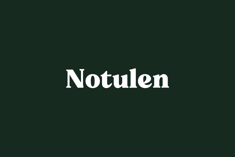 Notulen Free Font