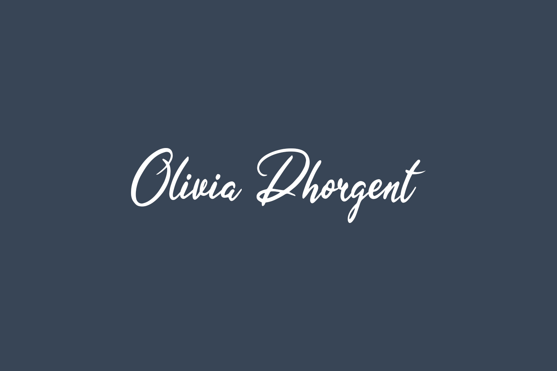 Olivia Dhorgent Free Font