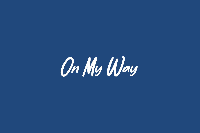 On My Way Free Font