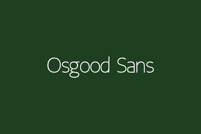Osgood Sans Free Font