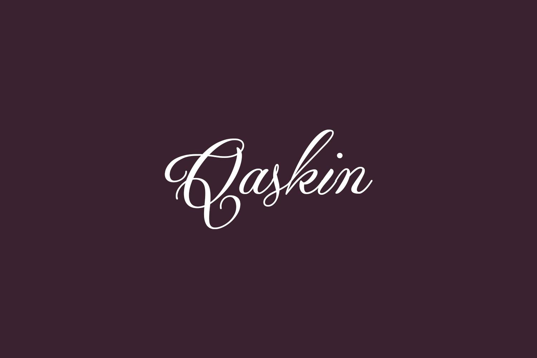 Qaskin Free Font