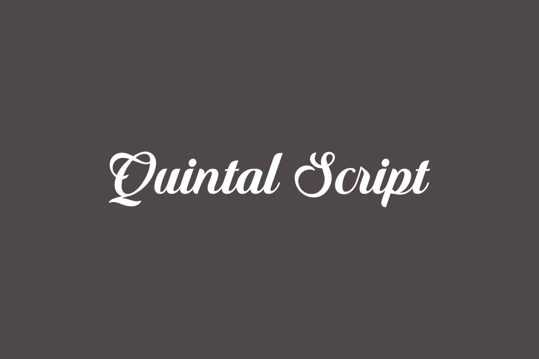 Quintal Script Free Font