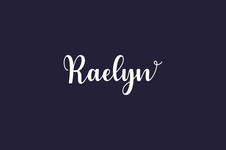 Raelyn Free Font