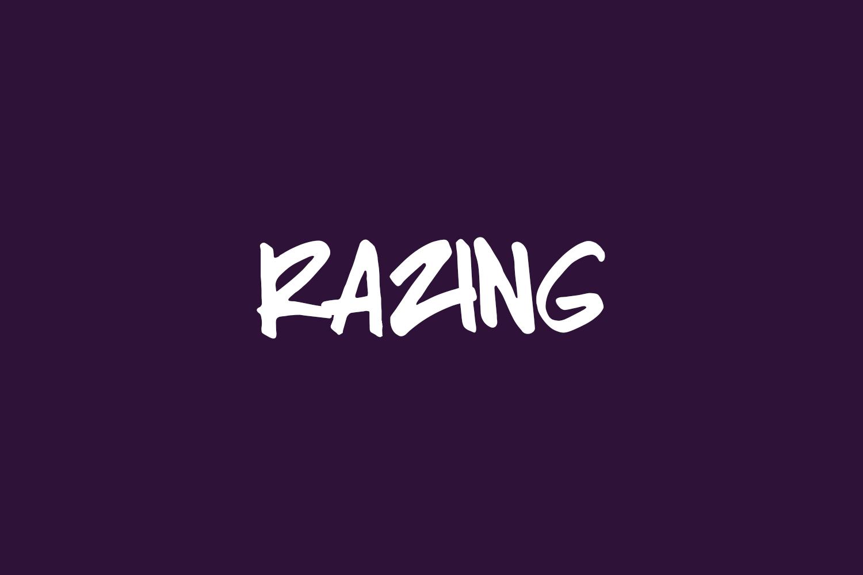 Razing Free Font