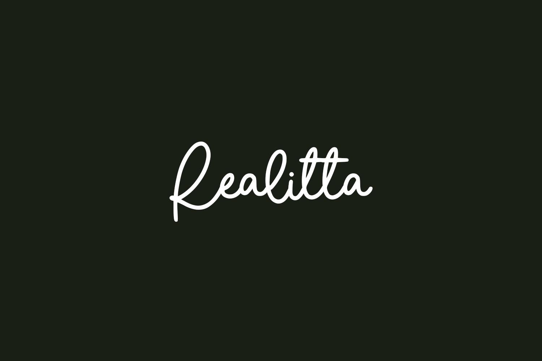 Realitta Free Font