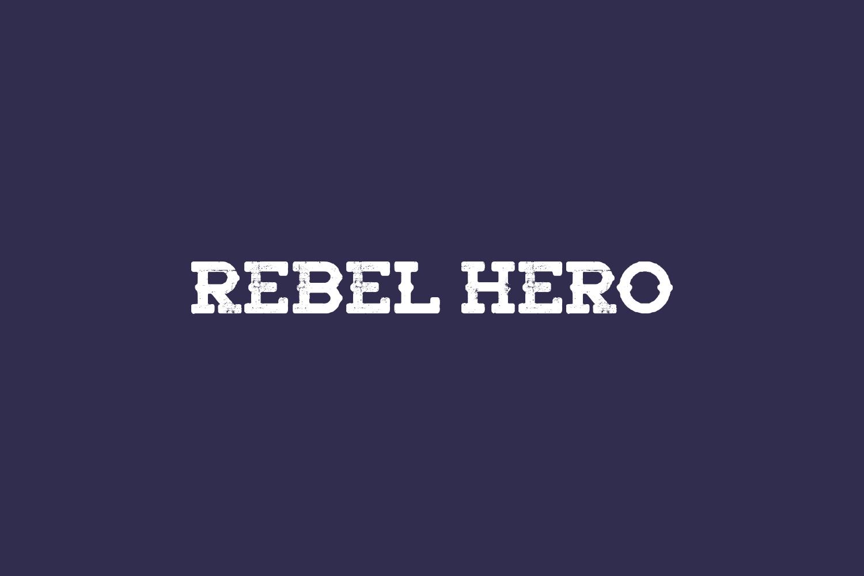 Rebel Hero Free Font