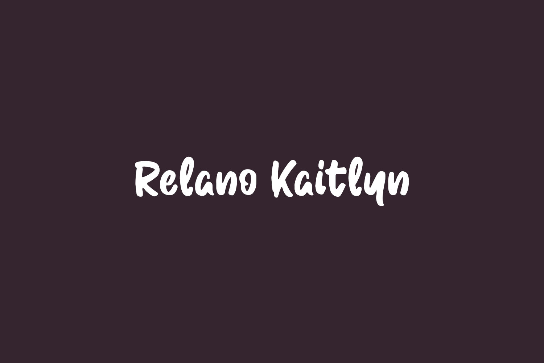 Relano Kaitlyn Free Font