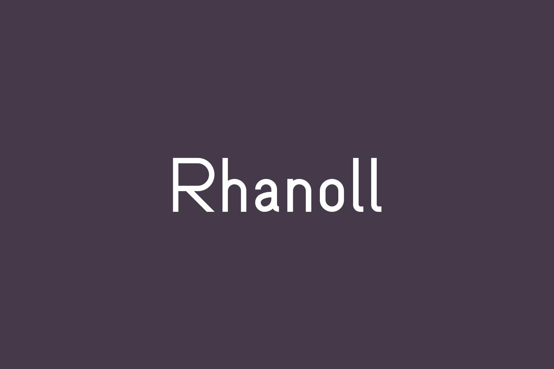 Rhanoll Free Font