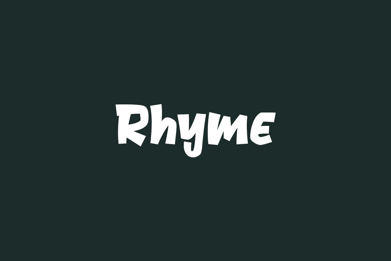Rhyme Free Font