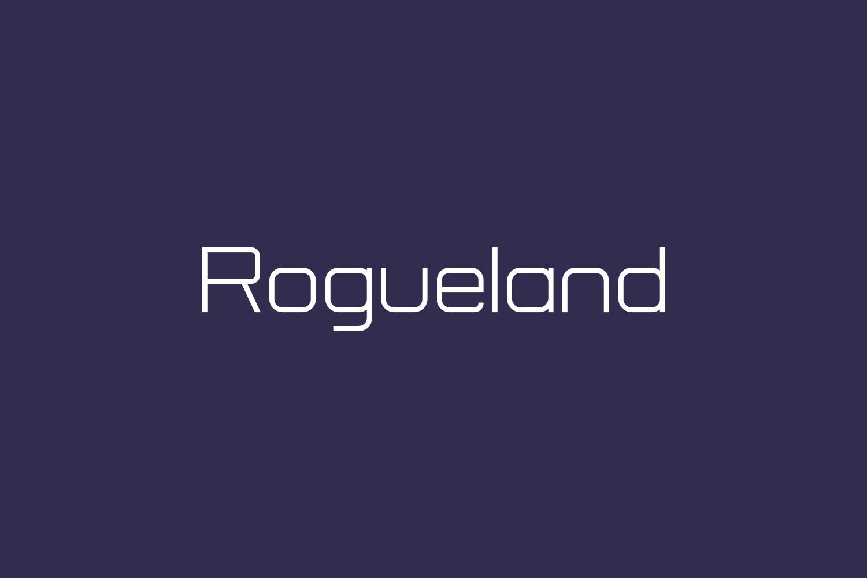 Rogueland Free Font