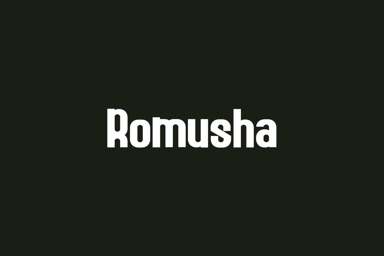 Romusha Free Font