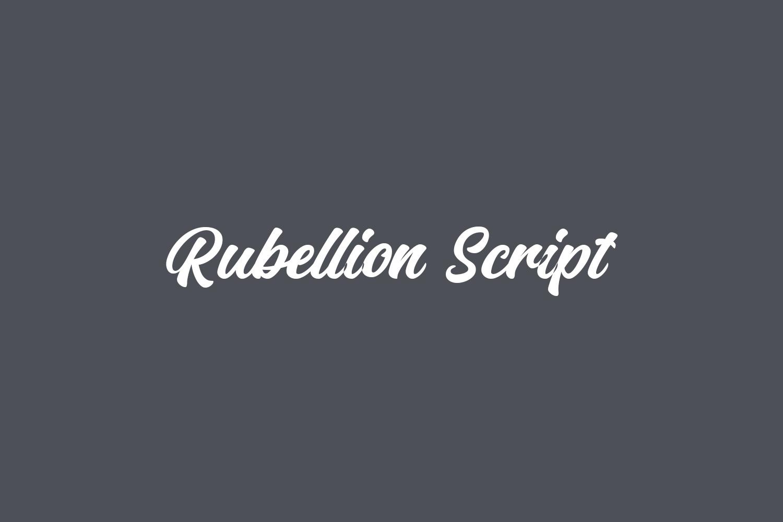 Rubellion Script Free Font