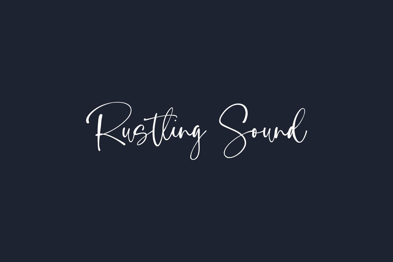 Rustling Sound Free Font
