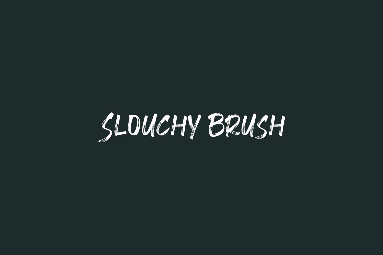 Slouchy Brush Free Font