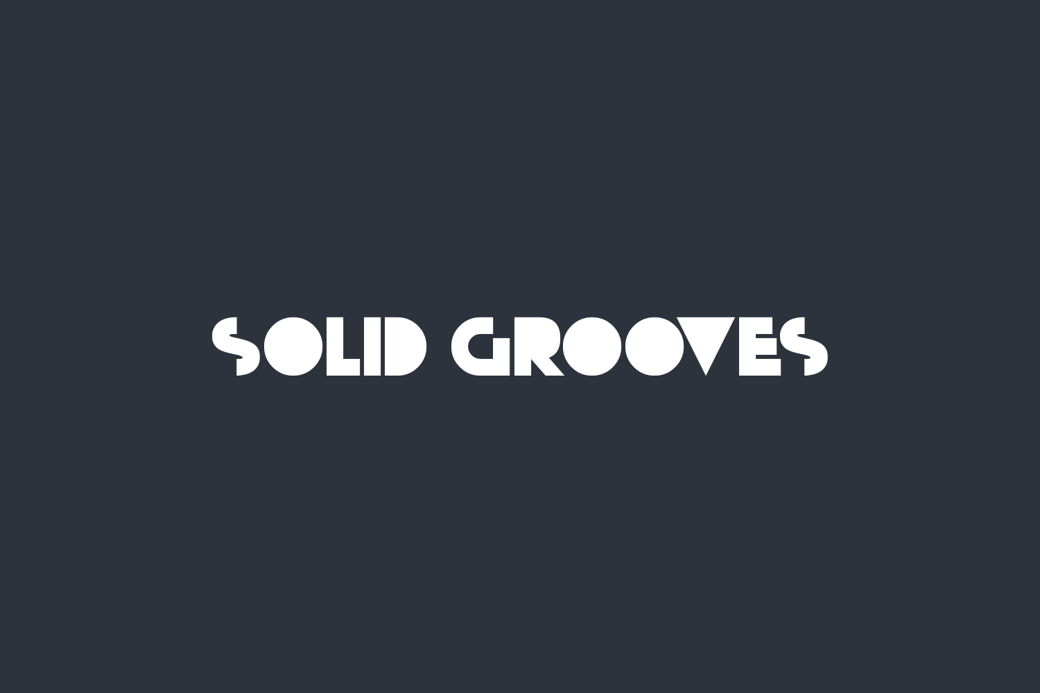 Solid Grooves Free Font