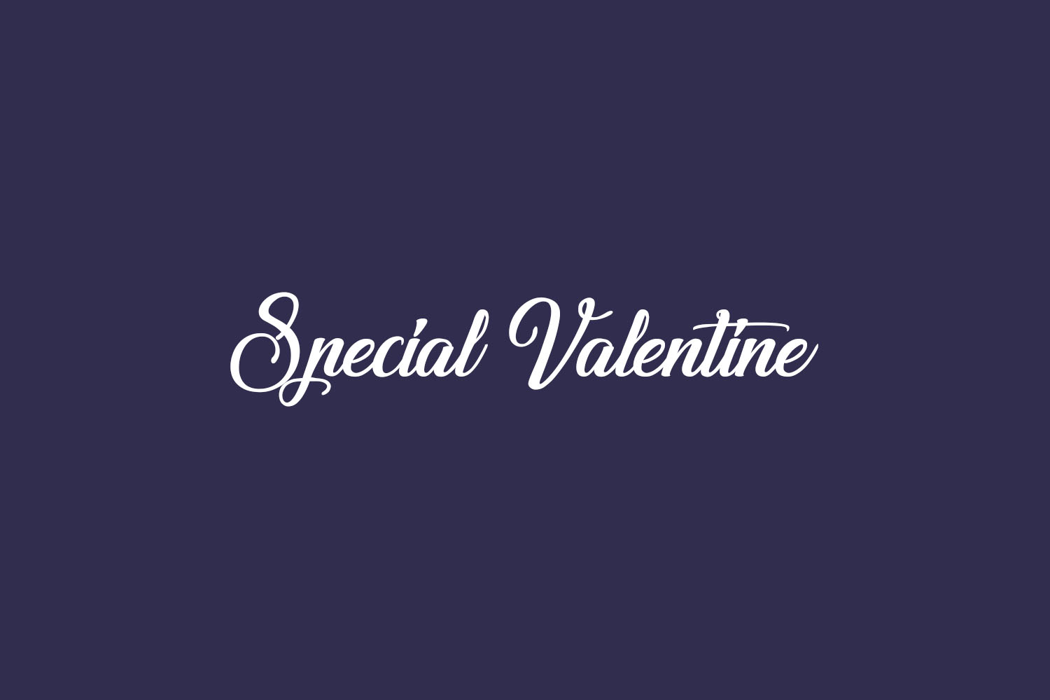 Special Valentine Free Font