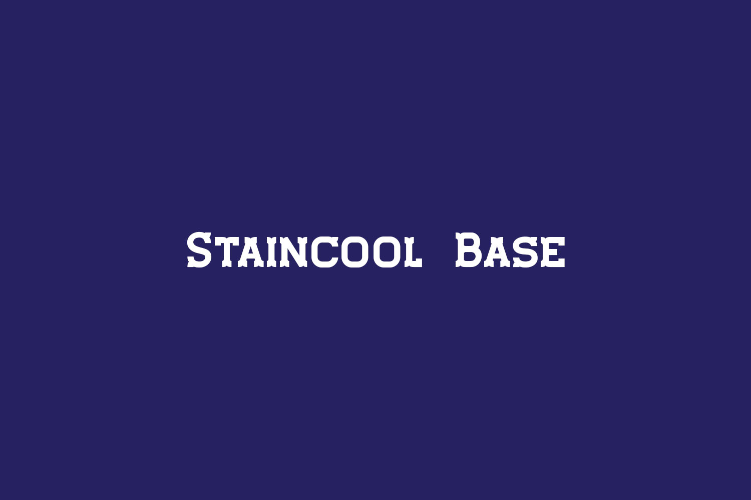 Staincool Base Free Font