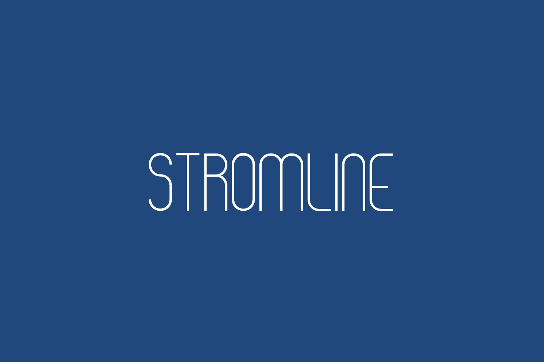 Stromlinie Free Font