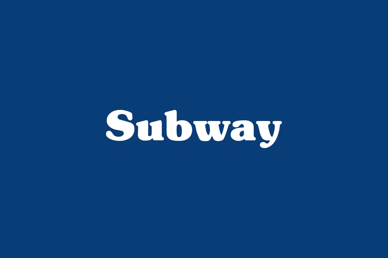 Subway Free Font