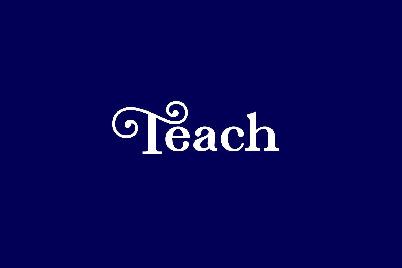 Teach Free Font